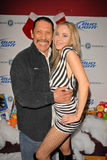 Danny Trejo,Paula LaBaredas. Danny Trejo and Paula LaBaredas at Bridgetta Tomarchio B-Day Bash and Babes in Toyland Toy Drive, Lucky Strike, Hollywood, CA. 12-04 stock photos