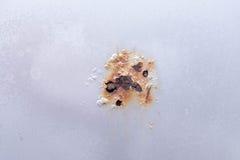 Dano da porta de carro da oxidação fotografia de stock royalty free