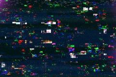 Dano da tevê de Digitas, pulso aleatório da transmissão da televisão imagem de stock royalty free