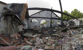 Dano de construção queimado Fotografia de Stock