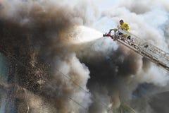 Dano de fogo Imagens de Stock
