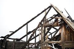 Dano de fogo do telhado, seguro do alojamento imagens de stock royalty free