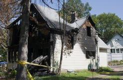 Dano de incêndio Fotos de Stock