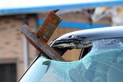 Dano do furacão de Ringgod Geórgia Imagens de Stock