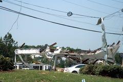 Dano do furacão de Ringgod Geórgia Foto de Stock