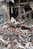 Dano do terremoto Imagens de Stock Royalty Free