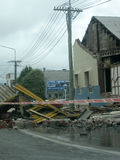 Dano do terremoto fotografia de stock royalty free