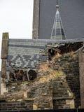 Dano do terremoto da catedral de Christchurch imagem de stock