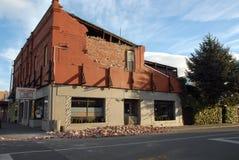 Dano do terremoto de Nova Zelândia Fotografia de Stock