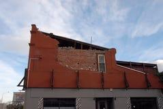 Dano do terremoto de Nova Zelândia Fotos de Stock