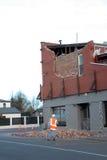 Dano do terremoto de Nova Zelândia Imagem de Stock