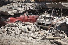 Dano do terremoto do Chile fotografia de stock royalty free