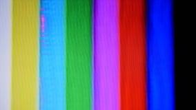 Dano do teste padrão de teste das barras de cor da fita de VHS video estoque