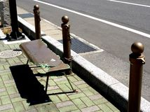 Dano do tsunami de Kaimaishi Fotos de Stock