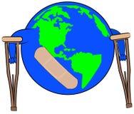 Dano global ilustração stock