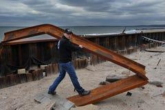 Dano grave na porta de mar, NY Imagem de Stock