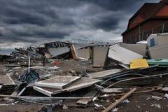 Dano grave nos edifícios na porta de mar, NY Imagem de Stock Royalty Free