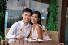 Dans-amour de couples Photos stock