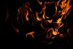 Dans av den mörka branden Arkivbild