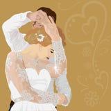 Dans av ett gift par royaltyfri illustrationer