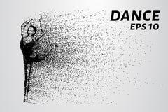 Dans av partiklarna Den akrobatiska förehavanden av de lilla cirklarna också vektor för coreldrawillustration Royaltyfri Fotografi