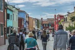 Dans Burano Photos libres de droits