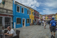 Dans Burano Photos stock