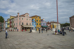 Dans Burano Photo stock