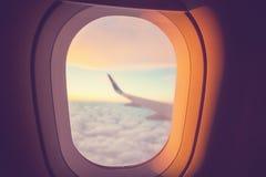 Dans des avions image stock