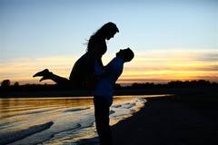 Dans des couples d'amour Images libres de droits