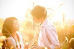 Dans des couples de jeunes d'amour Image libre de droits