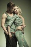 Dans des couples de mode d'amour Images stock