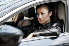 Dans des embouteillages Image stock