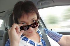 Dans des lunettes de soleil Photos stock
