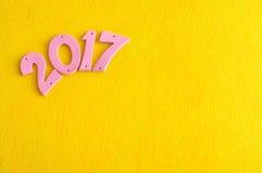 2017 dans des nombres roses Photographie stock
