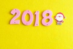 2018 dans des nombres roses Photographie stock
