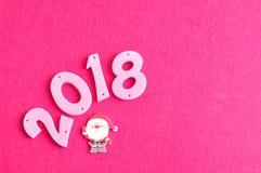 2018 dans des nombres roses Photo stock