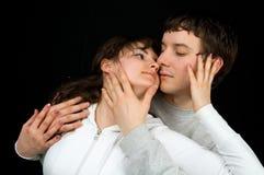 Dans des paires d'amour Photos stock