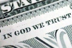 Dans Dieu nous faisons confiance Photo libre de droits
