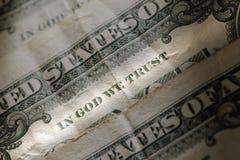 Dans Dieu nous faisons confiance Photographie stock