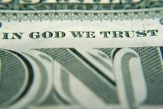 Dans Dieu nous faisons confiance Image libre de droits
