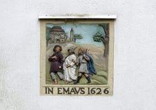 DANS EMAVS 1626, sur un mur vide blanc sur le Begijnhof, Amsterdam image stock