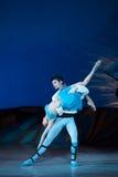 Dans för balettdansörer Aleksandr Stoyanov och Katerina Kukhar under balett Corsar Royaltyfri Foto