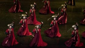 Dans för domstol för geigermätaredans 2-Classical fotografering för bildbyråer