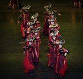 Dans för domstol för geigermätaredans 9-Classical arkivfoto