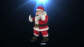 Dans 2 för jultomtenhöftflygtur stock video