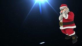 Dans 4 för jultomtenhöftflygtur lager videofilmer