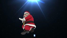 Dans 6 för jultomtenhöftflygtur arkivfilmer