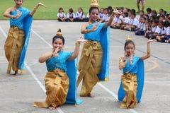 Dans för Thailand studentkultur Royaltyfri Fotografi