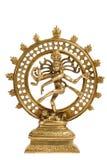 dans isolerad staty för lordnatarajashiva Arkivbild
